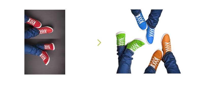 Farbbearbeitung Schuhe