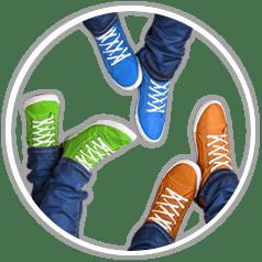 Kleurbewerking voorbeeld schoenen